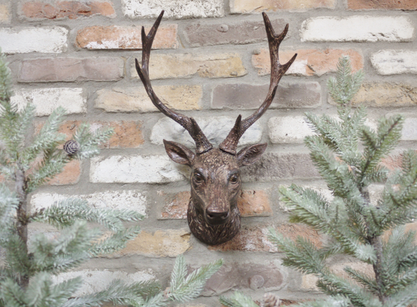 Bronzed Wall Stag