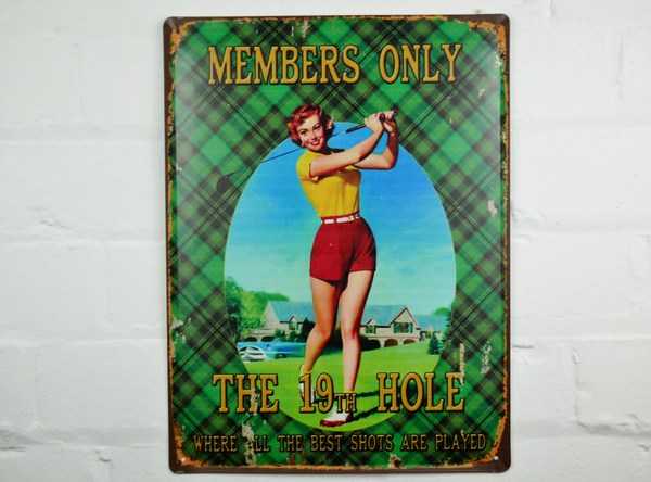 19th Hole Plaque