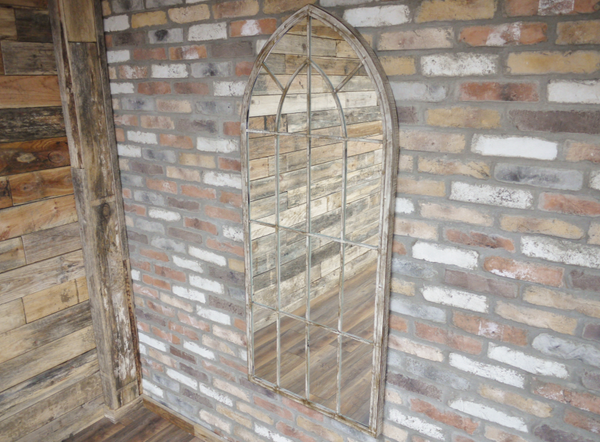 Large Rustic Arch Mirror
