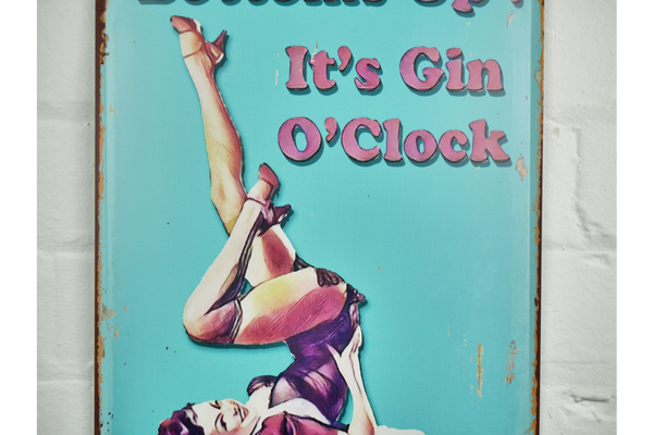Gin O'Clock Plaque