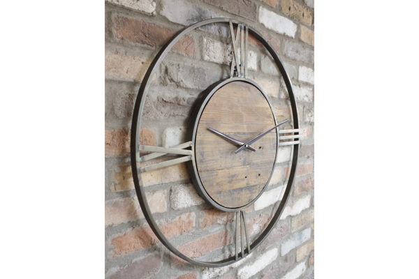 Large Round Wooden Clock