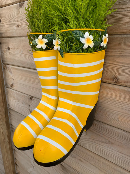 Yellow Boots Planter