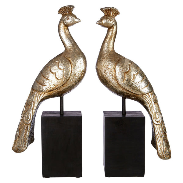 Large Peacock Bookends