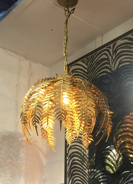 Gold Palm Leaf Chandelier Olive And Sage