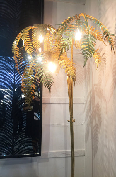 Gold Palm Leaf Floor Lamp