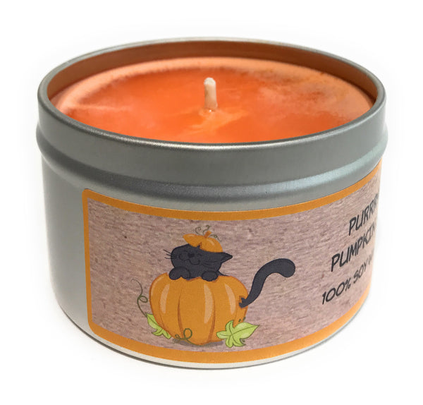 Purrrfect Pumpkin Spice 100% Soy Wax Triple Scented Candle