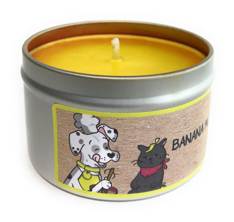 Banana Mutt Bread 100% Soy Wax Triple Scented Candle