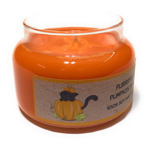 Purrfect Pumpkin Spice 100% Soy Wax Triple Scented Candle