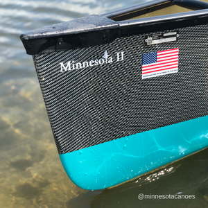 "Minnesota II 18' 6"" Innegra/Black Aramid with Caribbean Bottom Gel Coat Ultra-light Tandem Wenonah Canoe"