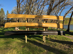 Wooden Canoe Rack - 6 Space