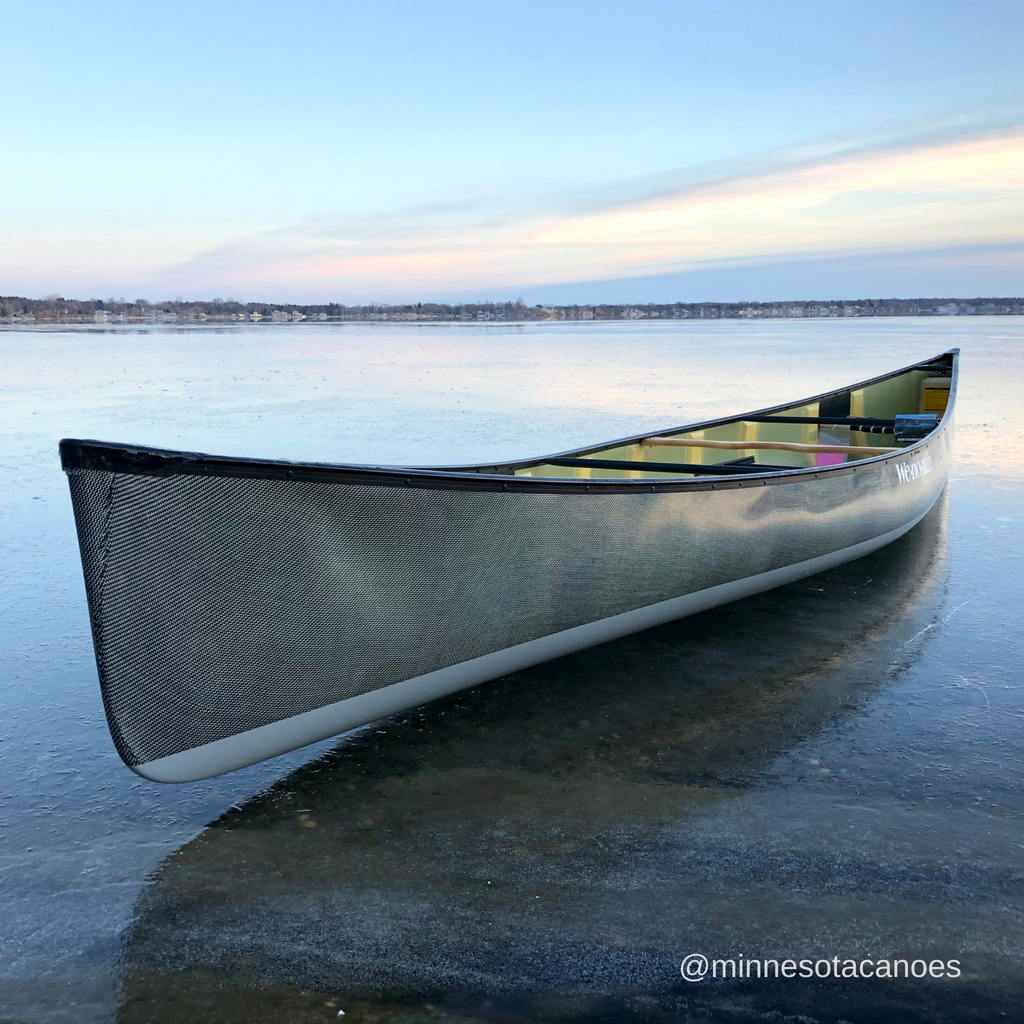 "Spirit II 17' 0"" Innegra/Black Aramid with Grey Bottom Gel Coat Ultra-light Tandem Wenonah Canoe"