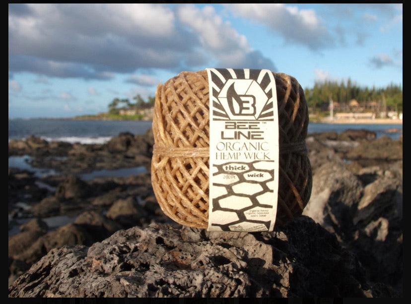 Bee line Hemp wick THICK WICK spool