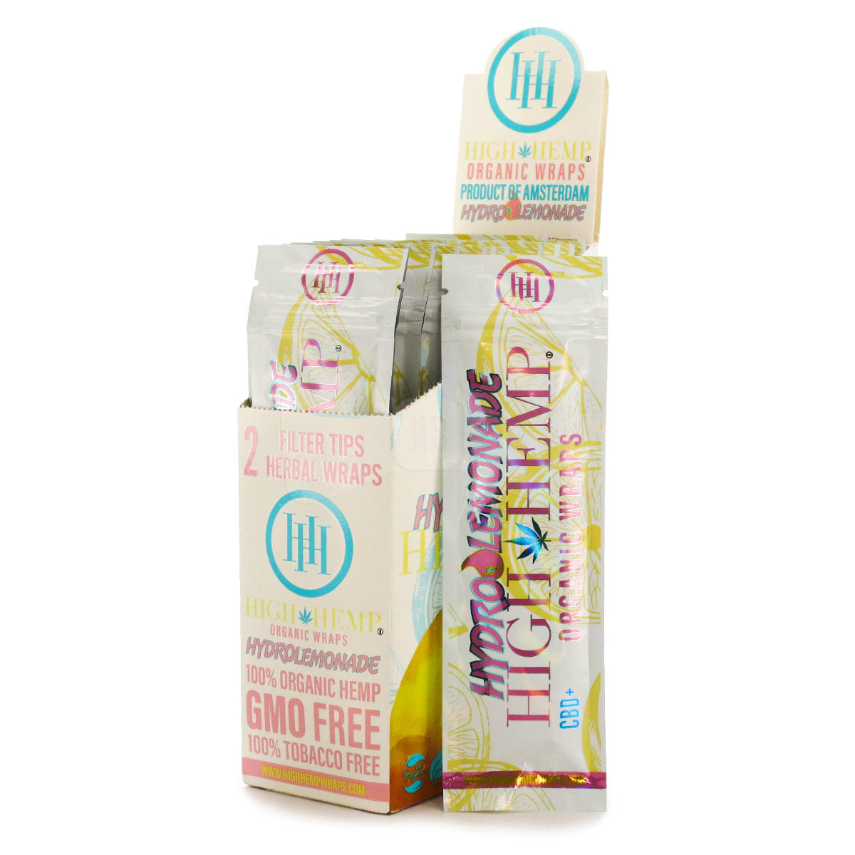High Hemp Hydro Lemonade Wraps (box of 25 packs)