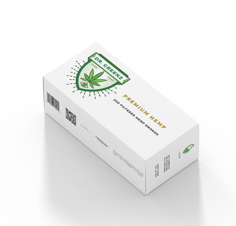 Dr. GREENZ CBD Hemp smokes carton (10packs of 20 smokes per carton)