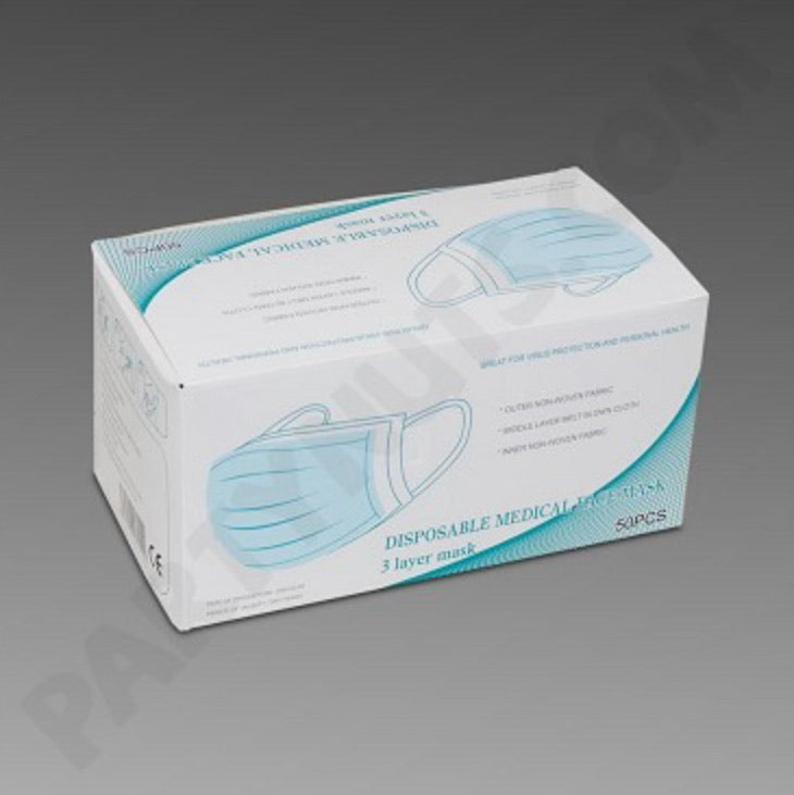 Disposable Face Mask 3-Ply 50 count Surgical Masks