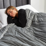 "Malouf Weighted Blanket, 48"" x 72"", 12 lbs, Driftwood"