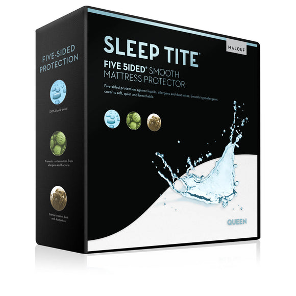 Malouf Sleep Tite Five 5ided Smooth Mattress Protector