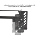 Steelock® Adaptable Hook-In Headboard Footboard Bed Frame King