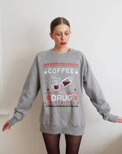 Load image into Gallery viewer, XMAS Coffee Is A Drug Light Grey