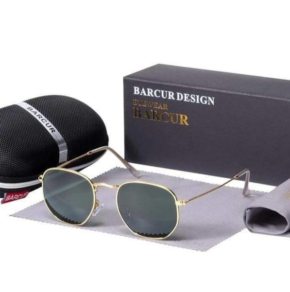 Assic.Myshop glasses Gold Greenkish Anti reflection barcur Polarized u-v [sunglasses] 21411902-gold-greenkish