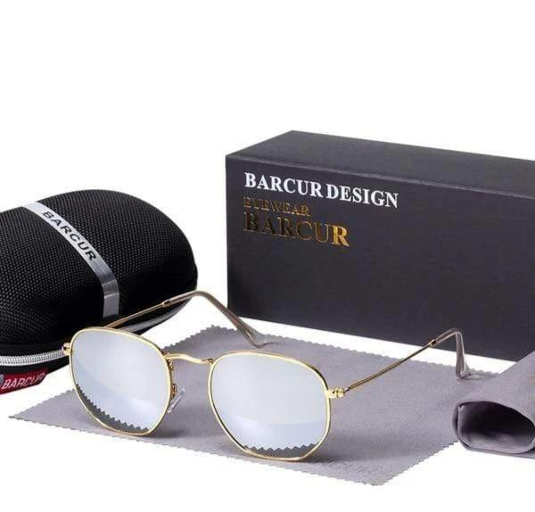 Assic.Myshop glasses Gold Silver Anti reflection barcur Polarized u-v [sunglasses] 21411902-gold-silver