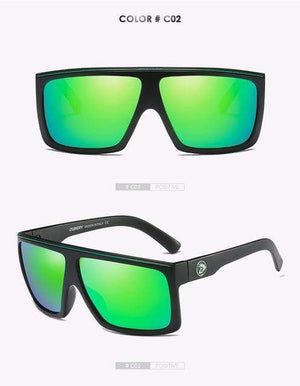 Reflective dubery Polarized u-v sunglasses-Green Lense