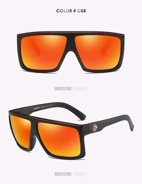 Reflective dubery Polarized u-v sunglasses-Orange Lense