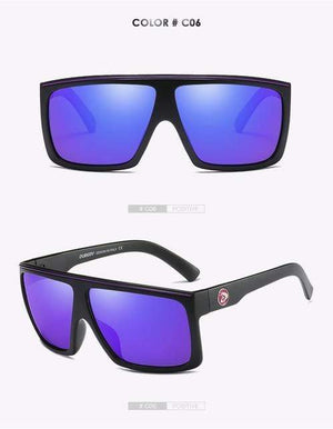 Reflective dubery Polarized u-v sunglasses-Purple Lense