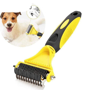 Pet Hair Brush Grooming 2 Sided Professional Undercoat Rake