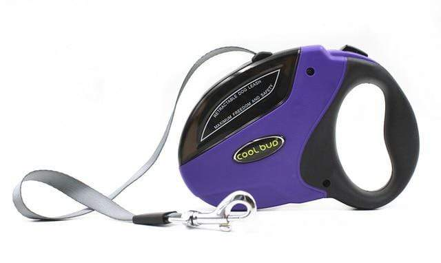 Pet Retractable Leash ABS Large Medium Dogs Automatic Extending Rope-Purple
