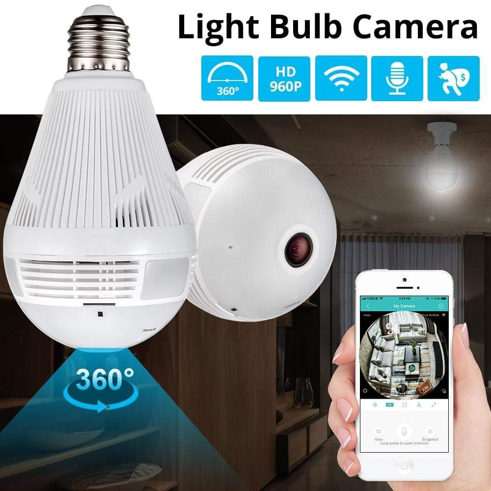 Assic.Myshop Security Home CCTV fisheye bulb lamp IP camera 360 degree [Security]