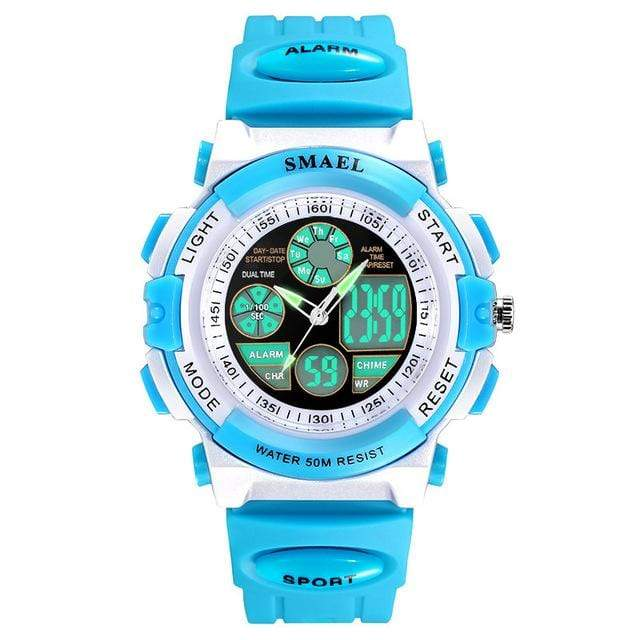 Assic.Myshop Watches Blue Dual Time Outdoor Quality [watches] smael LCD digital 6749220-blue-dual-time