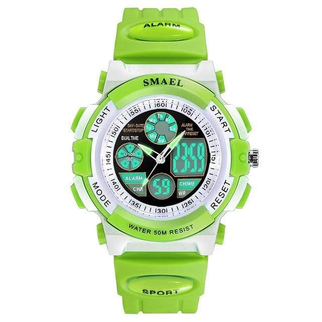 Assic.Myshop Watches Green Dual Time Outdoor Quality [watches] smael LCD digital 6749220-green-dual-time
