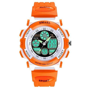 Assic.Myshop Watches Orange Dual Time Outdoor Quality [watches] smael LCD digital 6749220-orange-dual-time