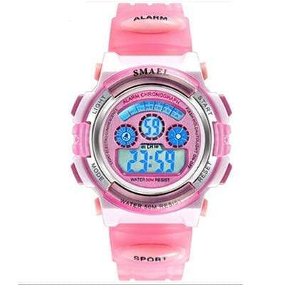 Assic.Myshop Watches Pink Digital Outdoor Quality [watches] smael LCD digital 6749220-pink-digital