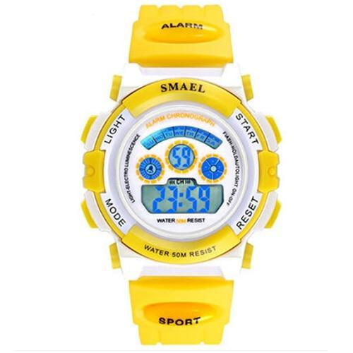 Assic.Myshop Watches Yellow Digital Outdoor Quality [watches] smael LCD digital 6749220-yellow-digital