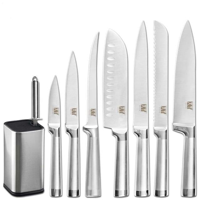 Kitchen Stainless Stee|^ Knives & sharpener 8pc