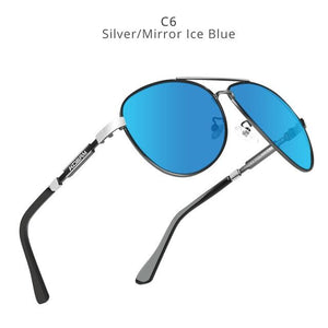KDEAM Polarized Sunglasses Men/Women Pilot-silver mirrored blue