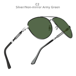 KDEAM Polarized Sunglasses Men/Women Pilot-army green