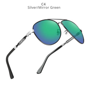 KDEAM Polarized Sunglasses Men/Women Pilot-silver mirrored green