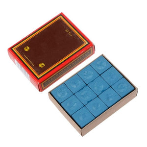 12 Pieces Billiard Chalk& Box