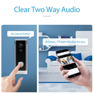 Doorbell Camera Wireless Smart Video Clear Two Way Audio