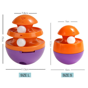 Interactive Cat & Dog Toy-Track Ball Purple