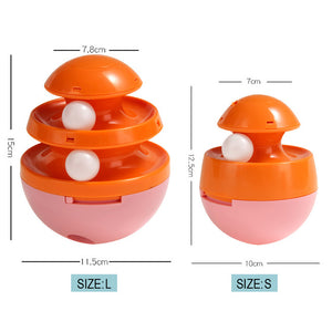 Interactive Cat & Dog Toy-Track Ball Pink