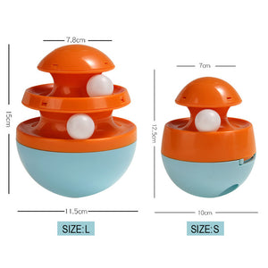 Interactive Cat & Dog Toy-Track Ball Blue