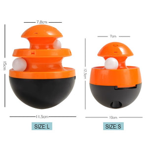 Interactive Cat & Dog Toy-Track Ball Black