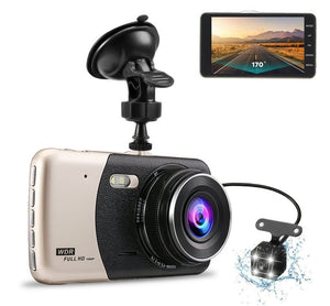 WDR Dash Camera Dual Lens Sliver black