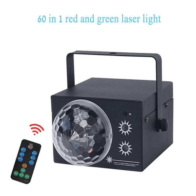 Mini RGB Disco DJ LED Laser Light 60 In 1 Function