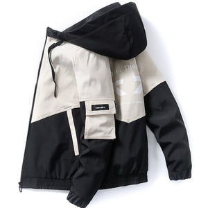 Men Jacket Outdoor Hooded Coat