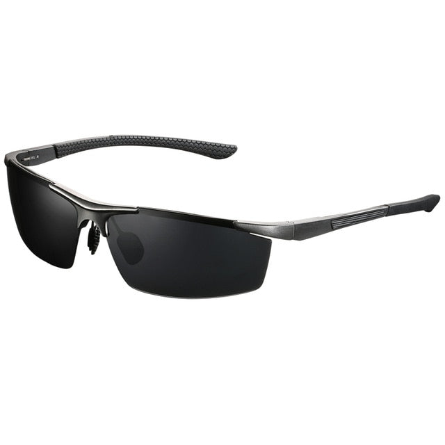 Men|^| Polarized Sunglasses-frame silver gray